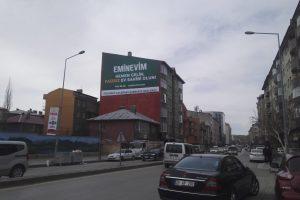 Erzurum Emin Evim Duvar Reklamı.