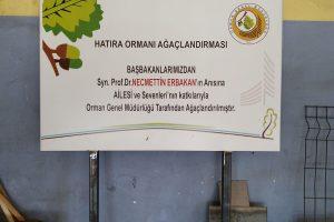 Erzurum Hatıra Ormanı Tabela Yapım ve Tabela montaj İşi.